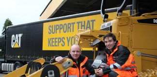 Team Players: Finning engineers, Spencer Smirl from Canada (right) and Richmond Dykes from Northern Ireland (left).