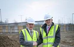 Pictured (l-r) are Lagan Building Director, Tom O'Hare, with Tesco Store Development Manager, Bernard Owens.