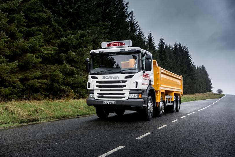 Scania Opticruise Tipper Impresses at Robinson Quarry
