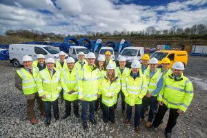 The Watermains Improvement team mark the award of the £100 million contract